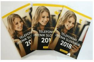 Brezplačni telefonski imenik Slovenije - TIS 2018