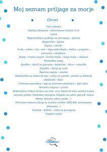 Moj seznam za morje - otroci