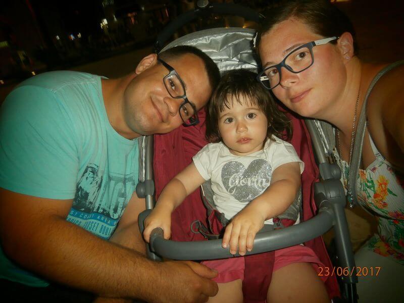 črna gora - izberi modro družina - voziček marela