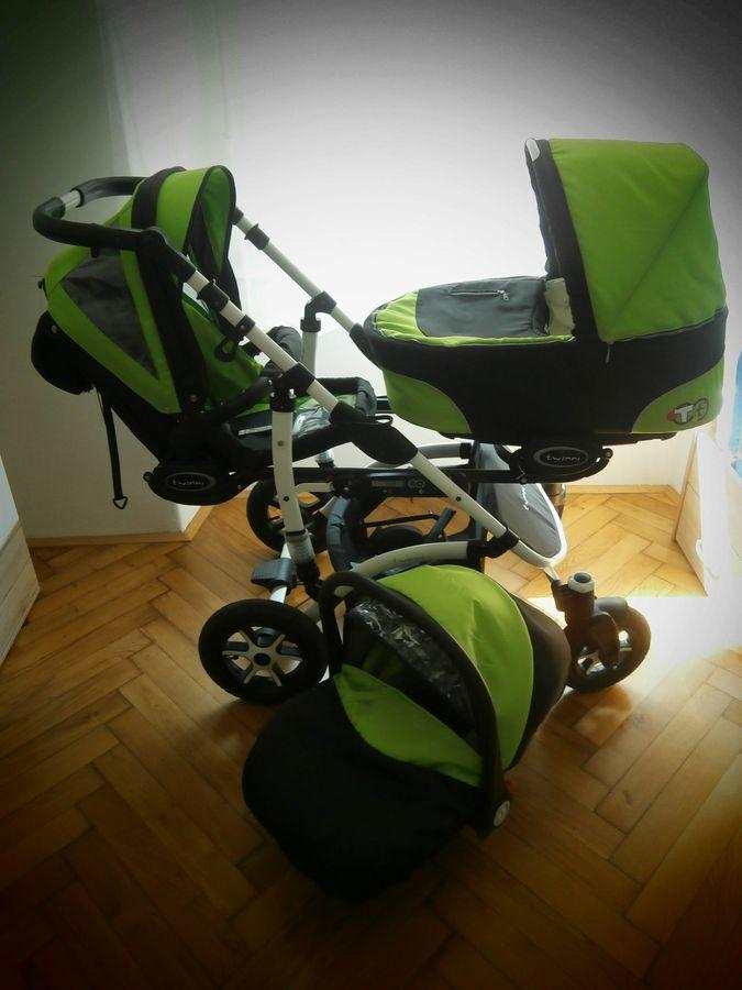 Voziček za dvojčka - Izberi modro