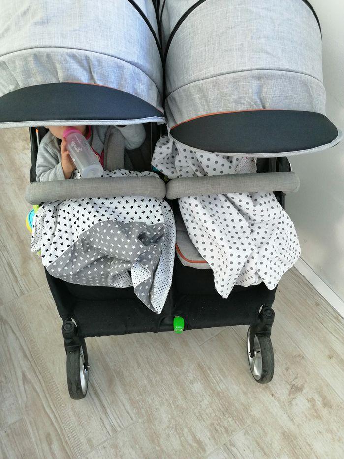 EasyGO domino voziček za dvojčka - Izberi modro družina