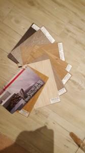 izbiranje barve vinila za uskladitev z ploščicami v hodniku