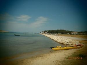 Oddih otok Rab (21) - plaža pri luki za trajekt