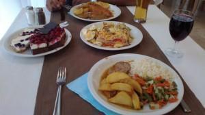 Oddih otok Rab (7) - hrana v restavraciji